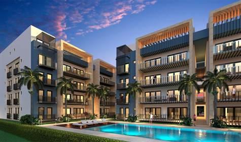 Apartamento de 2 habitaciones con acabados de alta calidad y cuarto de servicio en Punta Cana